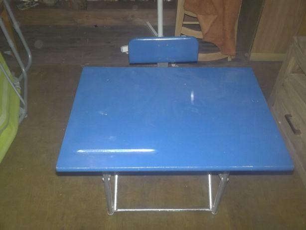Stolik z krzesełkim dla dziecka PRL,ławka