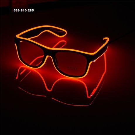 Świecące Okulary Na Impreze Wyjątkowe Różne Kolory Tryby LED