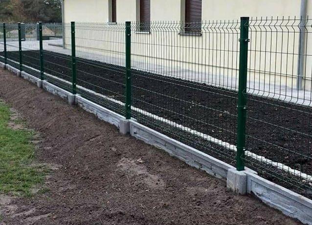 Montaż ogrodzeń panelowych, modułowych, z bloczków betonowych.