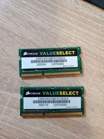 Оперативная память для ноутбука Corsair value select 4GB × 2