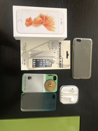Capa e caixa iphone 6 com cap protectora e phones
