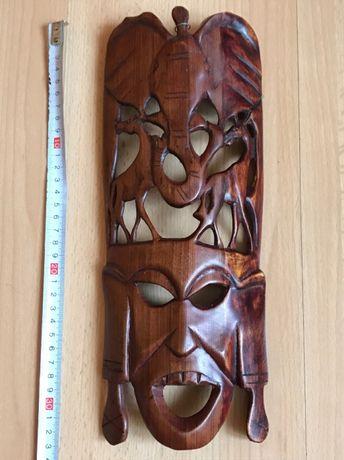 Maska afrykańska ręczne rzeźbienie