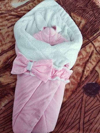 Комплект: одеяло конверт и человечек заяц.