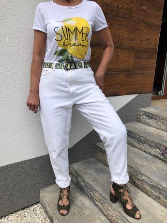 Śmietankowe jeansy Levis, rozm. L