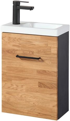 Szafka z umywalka Welltime »Lund« szer. 40 cm, lite drewno
