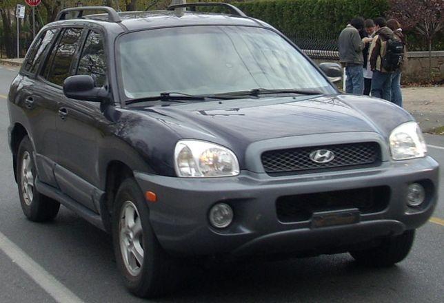 Hyundai Santa Fe-Viatura sinistrada para peças.