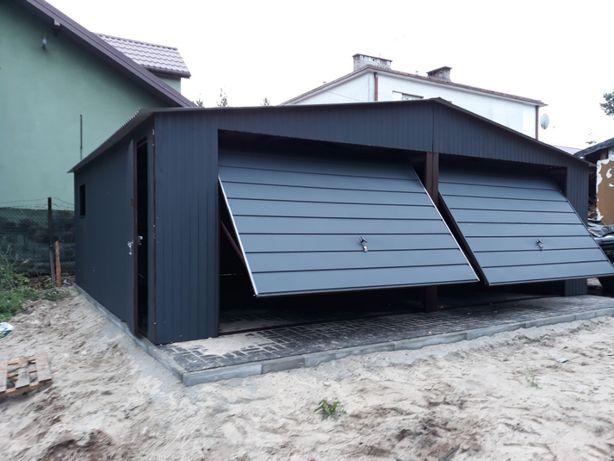 garaz blaszany 7x5 garaż blaszak grafit 6x5.80 wiata magazyn hala