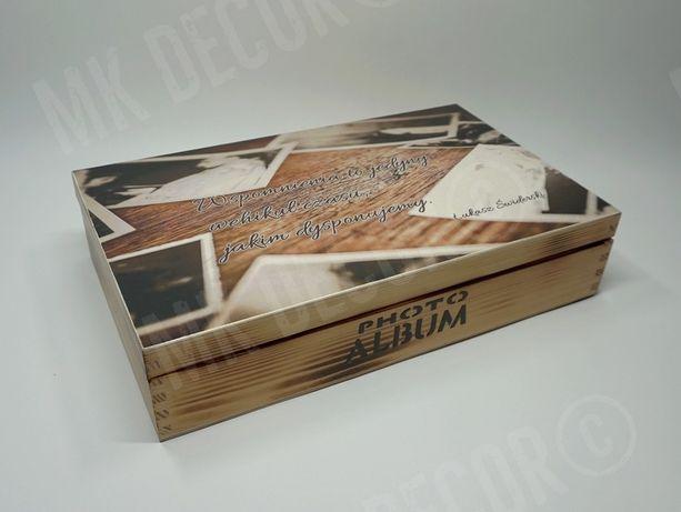 Pudełko prostokątne na zdjęcia i pendrive'a RĘKODZIEŁO