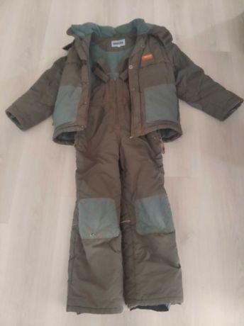 Зимняя куртка с комбинезоном  8-10 лет