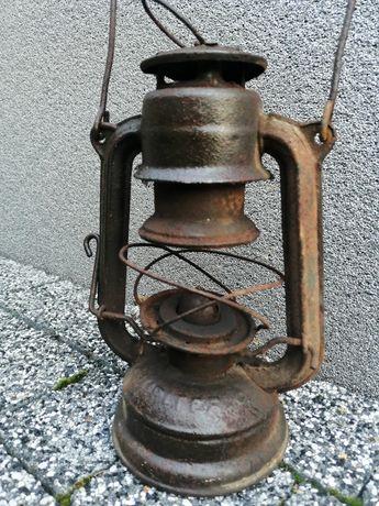Stara lampa naftowa  naftowa benzyna lata 40 ste antyk