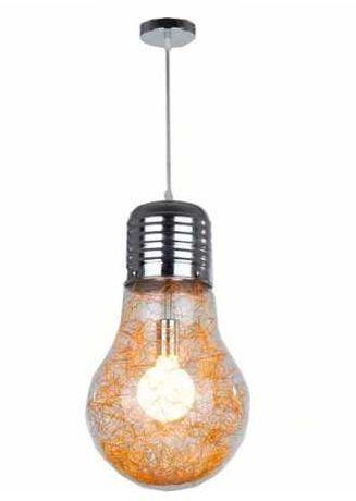 Lampa, żarówka z drucikiem ozdobnym