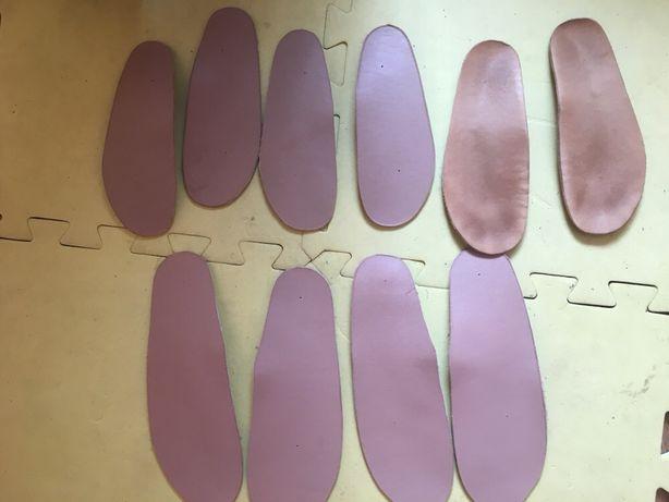 Продам стельки ортопедические детские кожаные новые