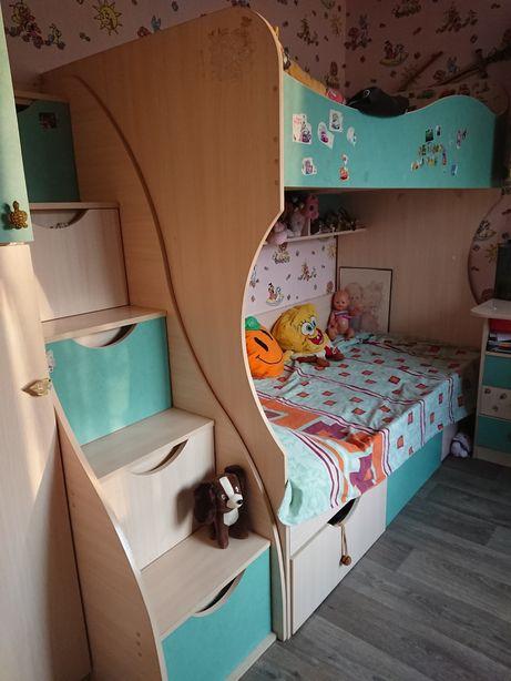 Двухъярусная кровать мебель для детской комнаты комплект
