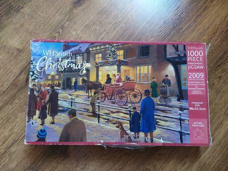 Cudowne puzzle 1000 elementów panoramiczne, ze złotym lakierem!