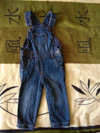 Утеплённый джинсовый комбинезон impidimpi, джинсы