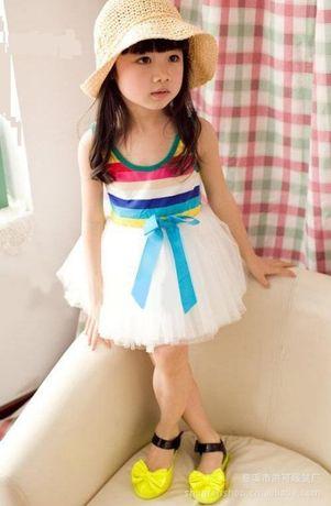 Нарядный пышный сарафан платье хлопок 90-135см пышная юбка платье