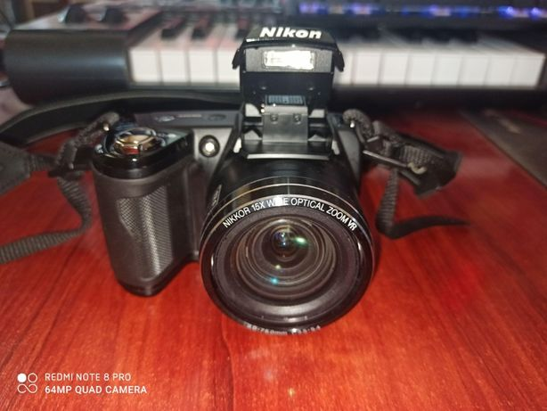 Aparat Cyfrowy Nikon Coolpix L110 + Karta 16GB + Futerał + Kable + inn