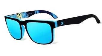 Óculos de sol modernos, lentes polarizadas, a estrear