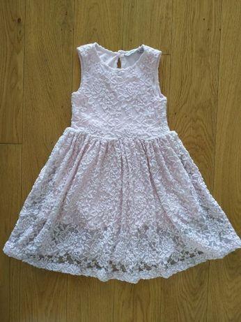 104 sukienka sukieneczka pudrowy róż różowa koronkowa my wear young