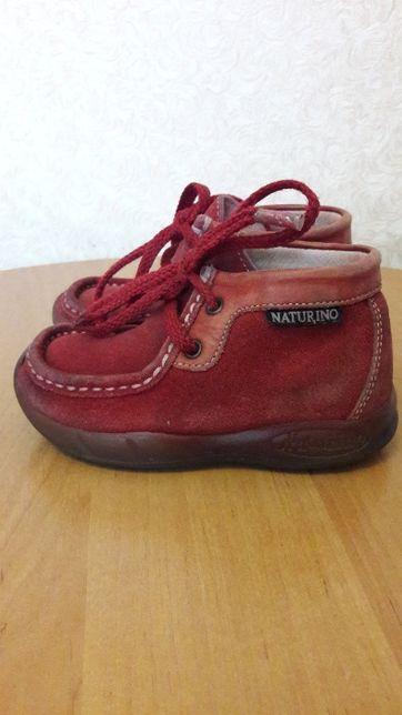 Замшевые демисезонные ботинки от naturino италия/р.23(15с)