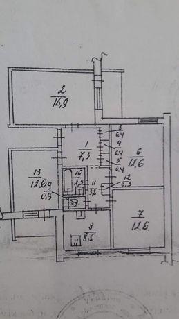 Продам 4-х комнатную квартиру с отличной планировкой