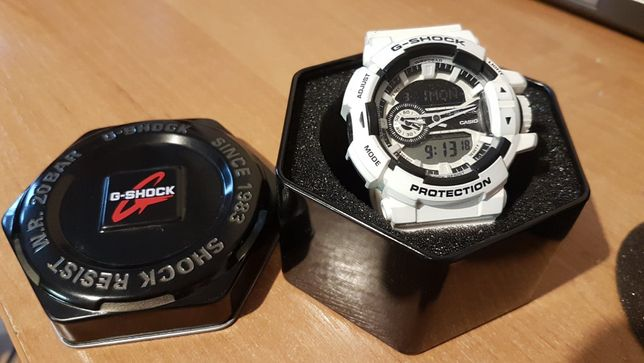 Zegarek męski Casio G-SHOCK GA-400-7AER (biały)