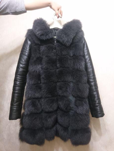 Меховая жилетка-куртка трансформер