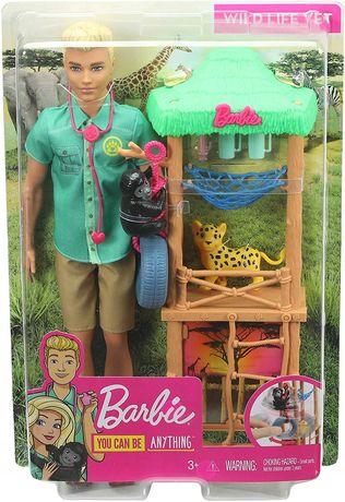 Barbie Ken Kariera Zestaw Weterynarz Gjm32 Gjm33 NOWY
