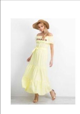 Żółta hiszpanka, sukienka M, L, XL