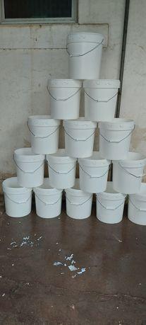 Baldes plástico de 25 litros c/ tampa alimentar