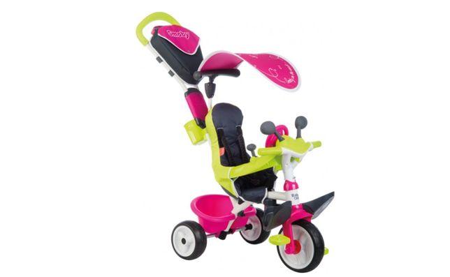 Велосипед детский с родительской ручкой Smoby Toys Беби Драйвер