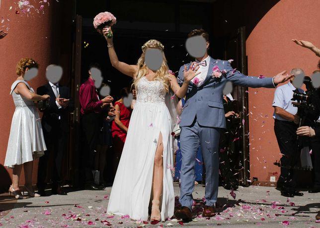 Suknia ślubna założona raz :)