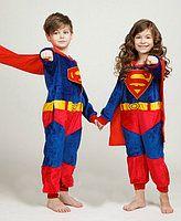 Пижама Кигуруми Супермен Человек Паук детская kigurumi костюм 120-140
