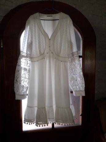 Sukienka biała wizytowa roz.42