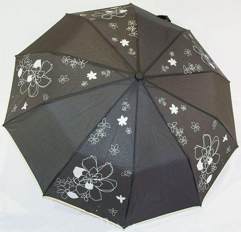 Женский зонт Полуавтомат 10 спиц антиветер карбон зонтик складной