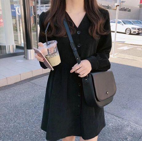 Чёрное платье сарафан