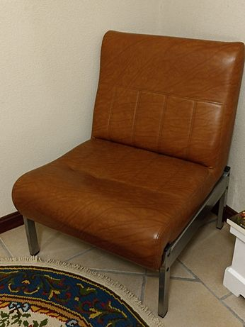 Sofá poltrona em Napa para sala, quarto móveis mobiliário