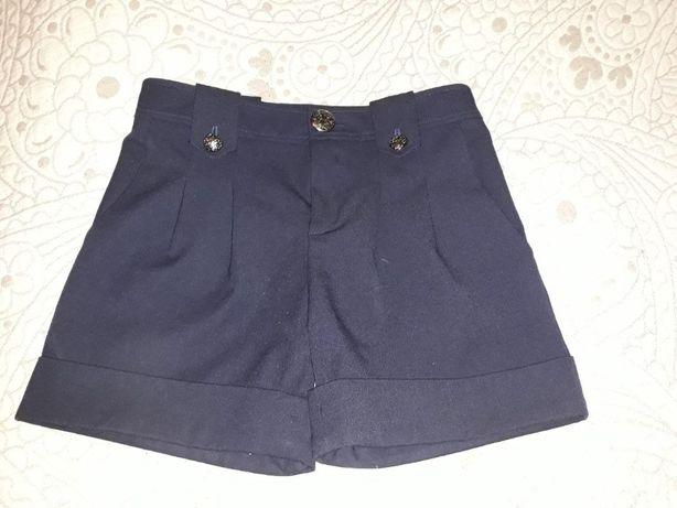 Школьные шорты темно-синие для девочки, 11-12 л.