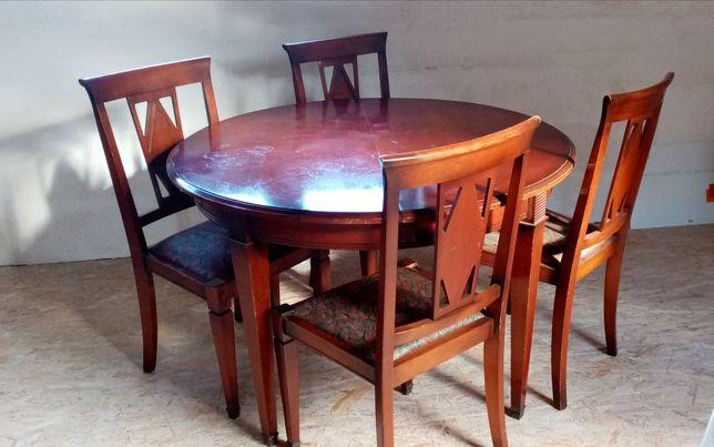 Komplet stól i 4 krzesla