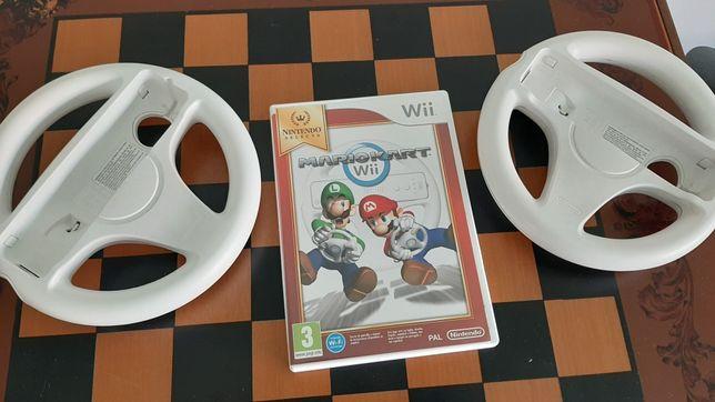 jogos WII mario kart com 2 volantes