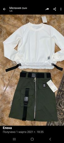 Модная юбочка для девочки подростка