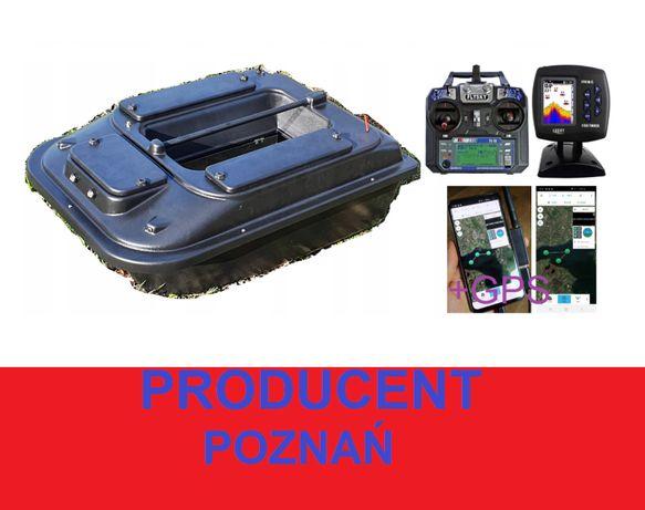 duża ŁÓDKA ZANĘTOWA P2 70cm Echosonda + GPS X / Producent Poznań
