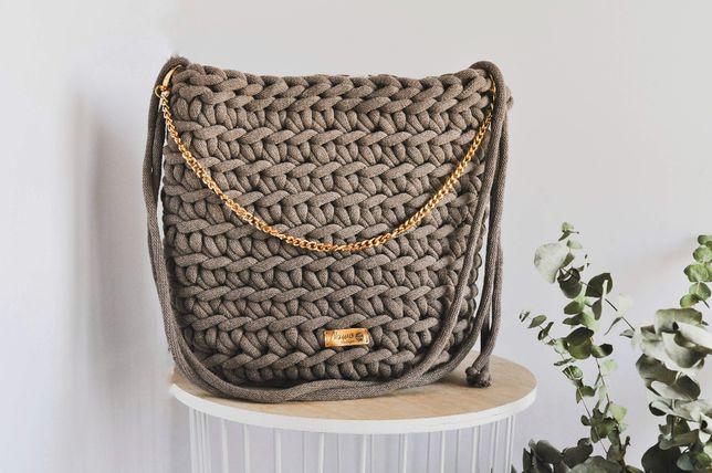 Brązowa torebka, Rękodzieło marki Nawo Design
