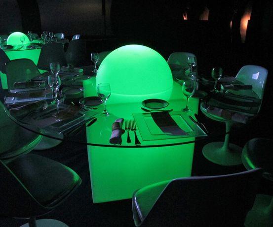 Mesa led Bar restaurante esplanada