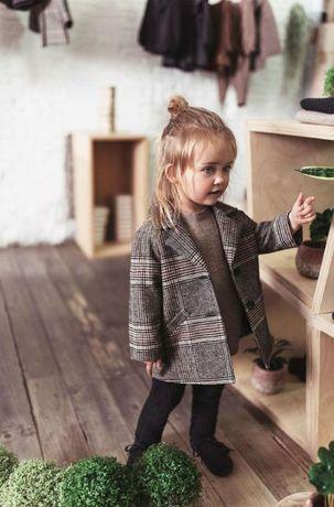 Детское пальто в клетку на мальчика или девочку