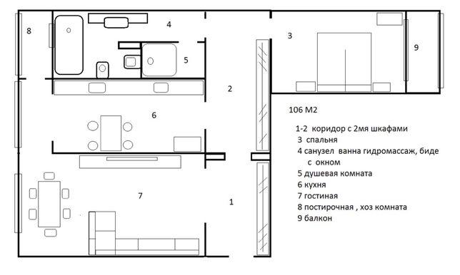 Геров Сталинграда, Оазис , 106 м , евроремонт+ мебель