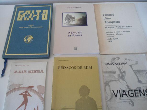 6 Livros de Poesia de vários autores