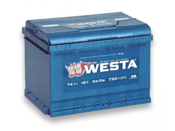 Аккумуляторы Westa 6СТ-45 50 60 65 74 75 78 100 140 192 200 225