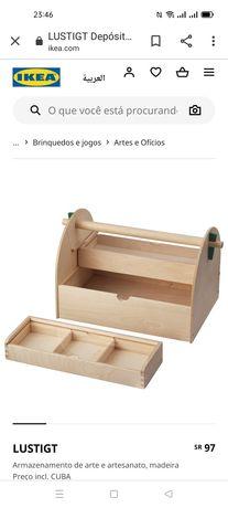 Caixa p/trabalhos manuais, Lustigt IKEA. Novo