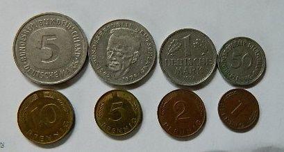 Marki niemieckie,banknoty i monety szwedzkie